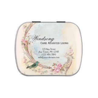 Vintages rosa Rosen-und Robin-Hochzeits-Geschäft Süßigkeitenbox
