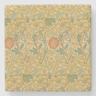 Vintages Rosa und Rose Williams Morris Steinuntersetzer