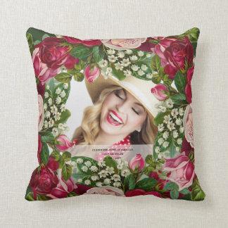Vintages Rose FOTO-Geschenk - IRGENDEINE Kissen