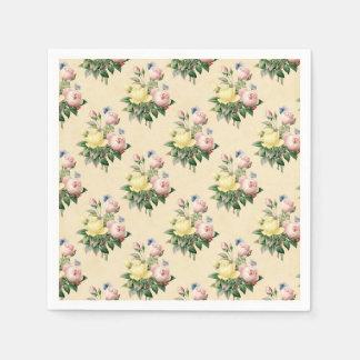 Vintages Rosen-Blumenmit Serviette