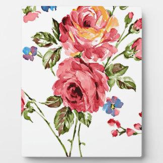 Vintages Rosen-Papier Fotoplatte