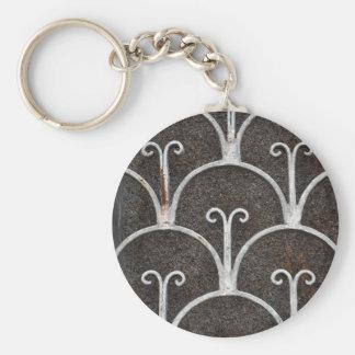 Vintages rostiges Muster Schlüsselanhänger