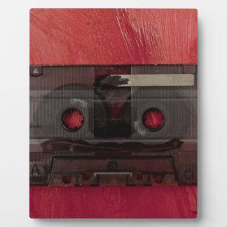 Vintages Rot der Kassettenband-Musik Fotoplatte