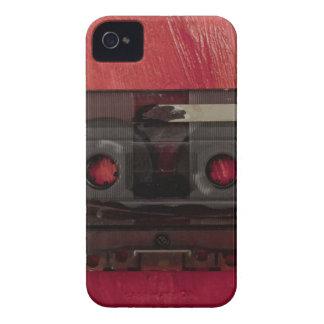 Vintages Rot der Kassettenband-Musik iPhone 4 Case-Mate Hülle