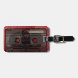 Vintages Rot der Kassettenband-Musik Kofferanhänger