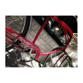 Vintages rotes rustikales industrielles Acryl des Acryldruck