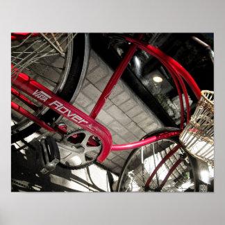 Vintages rotes rustikales industrielles Plakat des