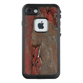 Vintages rotes Scheunen-Holz LifeProof FRÄ' iPhone 8/7 Hülle