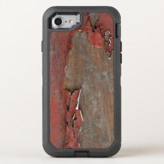 Vintages rotes Scheunen-Holz OtterBox Defender iPhone 8/7 Hülle
