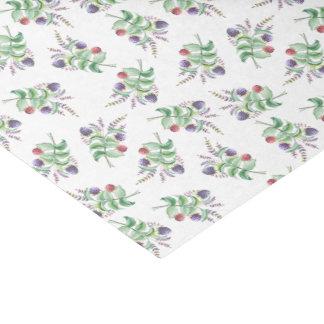 Vintages rotes Winter-Rosen-mit Blumenmuster Seidenpapier