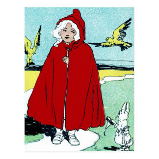 Vintages Rotkäppchen Postkarte