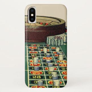 Vintages Roulette-Tabellen-Kasino-Spiel, spielende iPhone X Hülle
