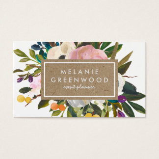 Vintages rustikales Blumen Visitenkarten
