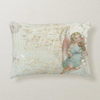 Vintages rustikales Rechteckthrow-Kissen mit Engel Dekokissen
