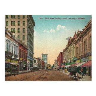 Vintages San Jose Kalifornien Postkarte