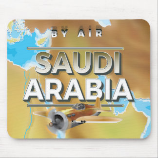 Vintages Saudi-Arabien Reise-Plakat Mousepad