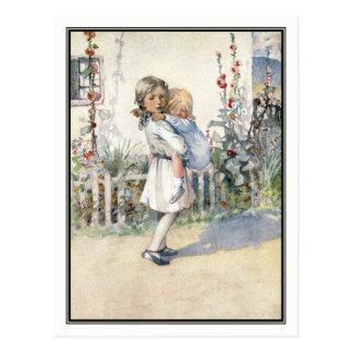Vintages schlafendes Kind durch Ehre C. Appleton Postkarten