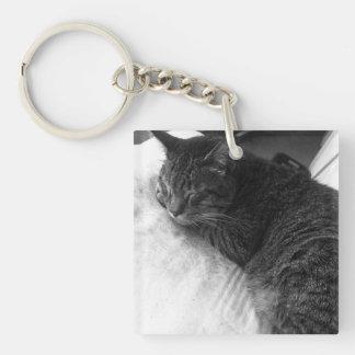 Vintages Schlafenkatzen-Foto | Keychain Schlüsselanhänger