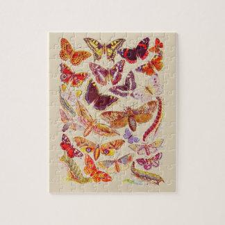 Vintages Schmetterlings-u. Puzzle