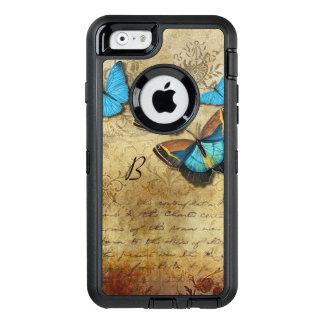 Vintages Schreiben und Schmetterlinge OtterBox iPhone 6/6s Hülle