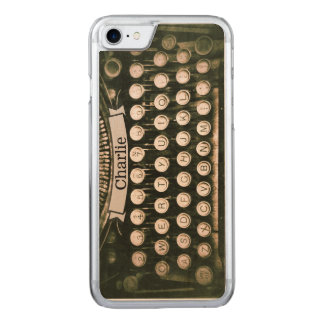 Vintages Schreibmaschinen-Ahorn iPhone 6 Holz Carved iPhone 8/7 Hülle