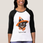 Vintages schwarze Katzen-Halloween-Shirt T-Shirt