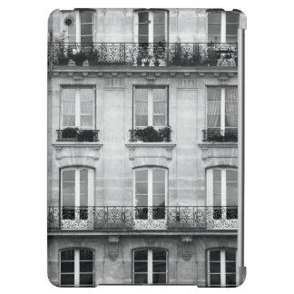 Vintages Schwarzweiss-Gebäude der Reise-| in Paris