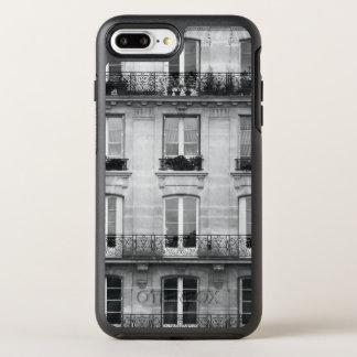 Vintages Schwarzweiss-Gebäude der Reise-| in Paris OtterBox Symmetry iPhone 8 Plus/7 Plus Hülle