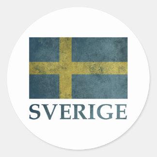 Vintages Schweden Runder Aufkleber