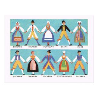 Vintages Schweden, traditionelles schwedisches Postkarte