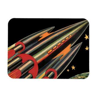 Vintages Science Fiction-Rocket-Schiff durch Magnet
