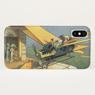 Vintages Science Fiction Steampunk Kabriolett-Auto iPhone X Hülle