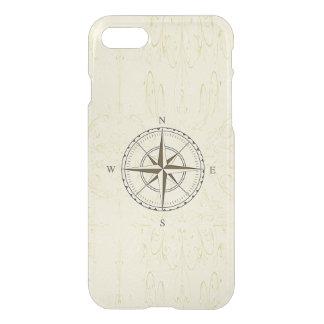 Vintages Seekompass-Rosen-Elfenbein iPhone 8/7 Hülle