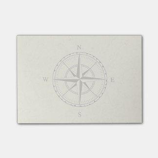Vintages Seekompass-Rosen-Elfenbein Post-it Klebezettel