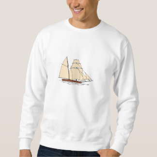 Vintages Segelboot Sweatshirt