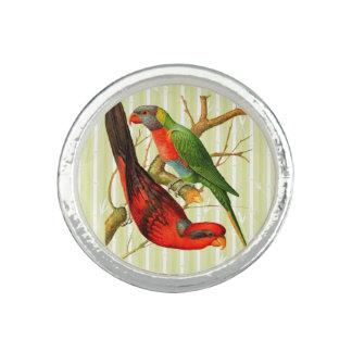 """""""Vintages silberner Ring der Papageien-V2"""""""