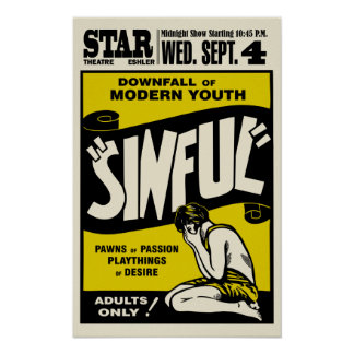 "Vintages ""Sinful"" Film-Plakat"