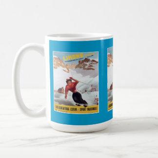 Vintages Ski-Plakat, Italien, Limone Kaffeetasse