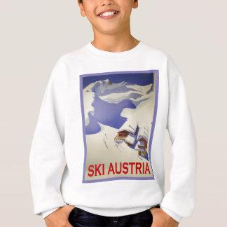 Vintages Ski-Plakat, Ski Österreich Sweatshirt