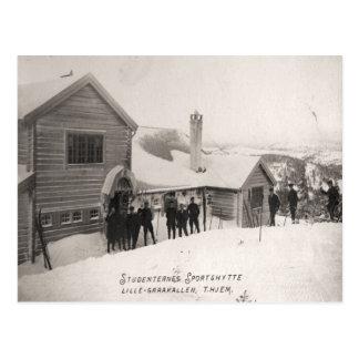 Vintages Skibild, StudentenSportzentrum Postkarte