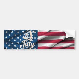 Vintages Skript der amerikanischen Flagge der Autoaufkleber