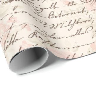 Vintages Skript Geschenkpapier