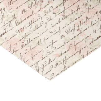 Vintages Skript Seidenpapier