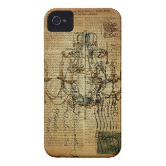 Vintages Skripte französisches Land-Vintager iPhone 4 Hülle