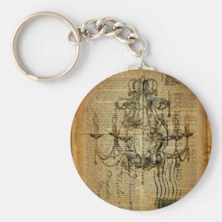 Vintages Skripte französisches Land-Vintager Schlüsselanhänger