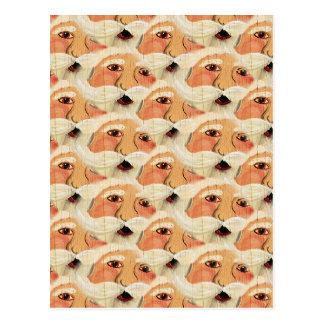 Vintages Sperrholz Sankt stellt Tapeten-Muster Postkarte