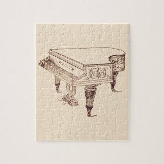 Vintages Spieler-Klavier Puzzle