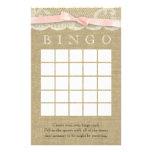 Vintages Spitze-und Bogen-Duschen-Bingo Personalisierte Druckpapiere