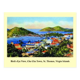 Vintages St Thomas Virgin Islands Postkarte