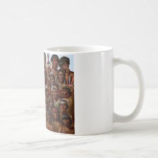 Vintages Stamm- und Völkerbild des gebürtigen Kaffeetasse